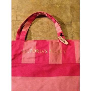 Victoria's Secret Bag Pink Striped Beach Bag Tote Shoulder Bag Carrier NEW NWT