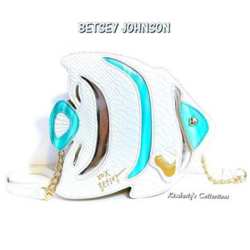 Betsey Johnson Fish Cross Body Bag Beach Purse NWT