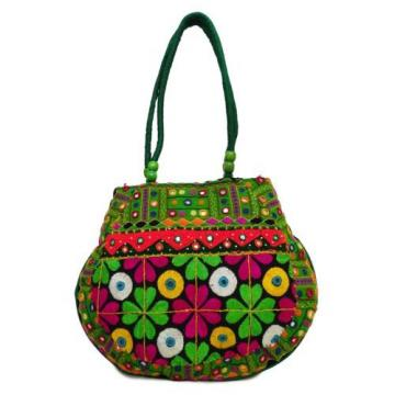 Vintage Bag Indian Antique Beach Purse Multicolor Patchwork Women Shoulder Bag