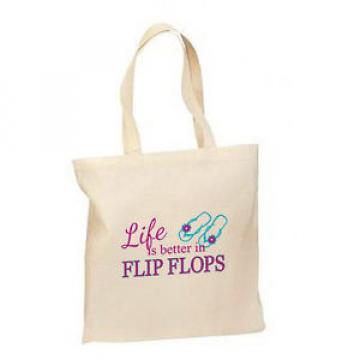 Life Better In Flip Flops New Lightweight Cotton Tote Bag Gifts Summer Beach
