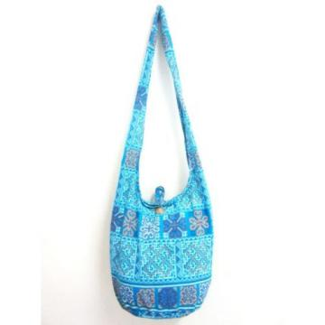 S SUMMER BAG SLING SHOULDER BOHO GYPSY SCHOOL HOBO BEACH PURSE YOGA LIGHT BLUE