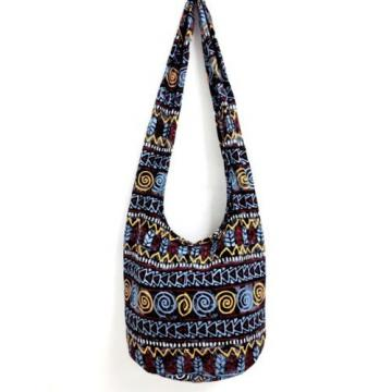SUMMER BEACH SHOULDER BAG SLING HIPPIE CROSSBODY SPIRAL GYPSY THAI YAAM HOBO