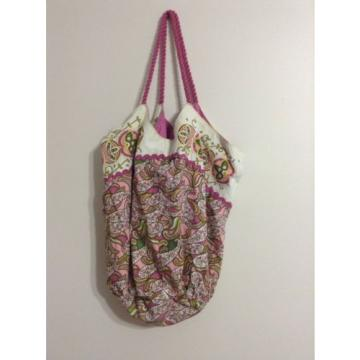 Hobo Tote Shopper Beach Cotton Purse Bag Pink