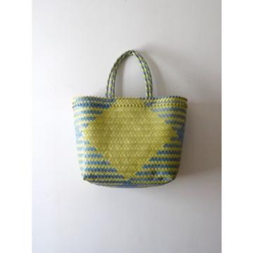 Blue and Yellow Handwoven Market Bag, Tote, Beach, Steven Alan, Madewell