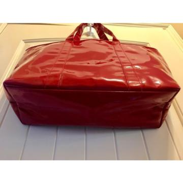 "Victorias Secret 21"" Tote Travel Beach Bag Red Bow RUNWAY SIGNATURE '09"
