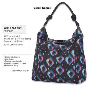 NEW Dakine Ariana 30L Black Kamali Womens Beach Tote Travel Shopping Bag Msrp$38