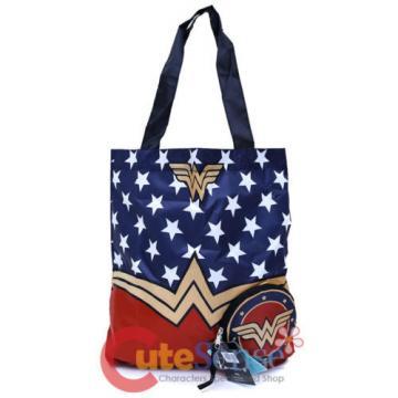 DC Comics Wonder Woman Packable Tote Beach Bag Handbag Reusable Grocery Bags