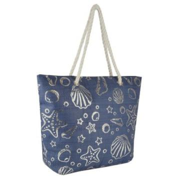 Sparkle Shell Design Shoulder / Beach / Shopping Bag with Rope Handle