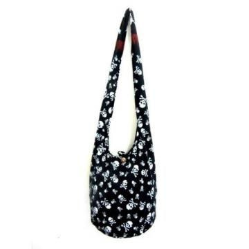 o BOHO BLACK LARGE BAG SLING SHOULDER HANDMADE UNISEX HOBO WOMEN ADVENTURE BEACH