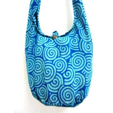CROSSBODY BAG SLING SHOULDER GYPSY SCHOOL HOBO BLUE BEACH PURSE SPIRAL YAAM LADY