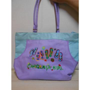 Carolina Girl Flip Flop Purple Beach Tote Bag FUN Carry All Women's Shoulder Bag