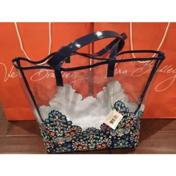 Brand New Vera Bradley Chandelier Floral Clearly Colorful Tote / Beach Bag  NWT