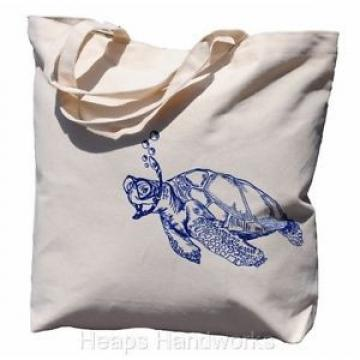 Tote Bags for Women - Beach Travel Market Canvas Cotton - Blue Turtle - NEW