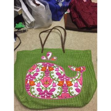VERA BRADLEY Seashore Tote Bag Large NEW Vacation Beach Shop Lilli Bell Whale