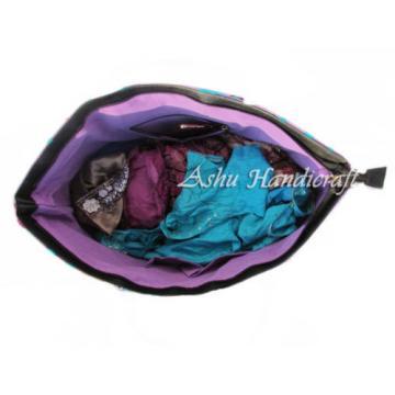 Indian Cotton Tote Suzani Embroidery Handbag Woman Shoulder & Beach Boho Bag 051