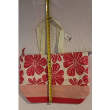 NEW Womens Fashion Beach Bag Shoulder Tote Large Pink Floral Canvas Purse Hobo