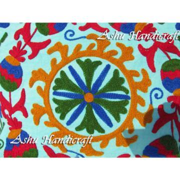Indian Cotton Suzani Embroidery Handbag Woman Tote Shoulder Bag Beach Boho Bag Q