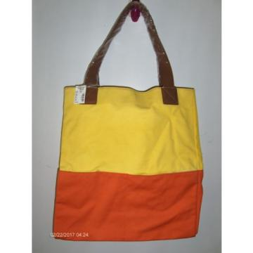 Summer Shop Large Canvas Beach Bag Tote Faux Leather Straps