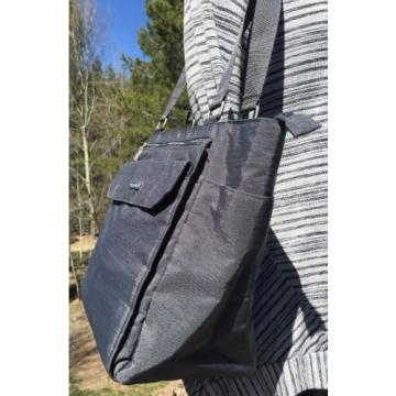 Baggallini Grey Nylon Village Tote/Beach Top Zip Travel Shoulder Bag