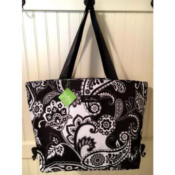 Vera Bradley MIDNIGHT PAISLEY LIGHTEN UP LARGE FAMILY TOTE Travel Beach Pool Bag