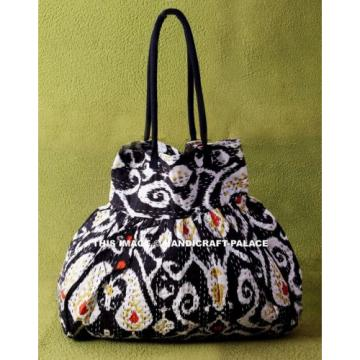 Indian Cotton Kantha Embroidery Handbag Woman Tote Shoulder Bag Beach Boho Bag