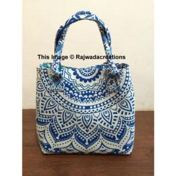 Indian Ombre Handmade Mandala Shopping Purse Cotton Beach Bag Large Tote