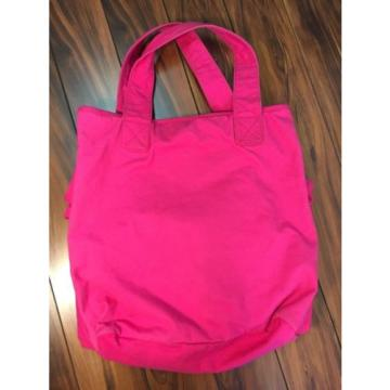 Juicy Couture XL Large Pink Ruffle Beach Tote Bag Terry