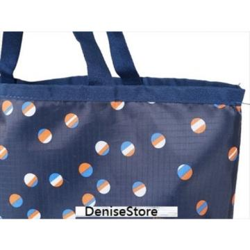 JAPAN LeSportsac Beach Ball Play Style 2 Navy Pocketable ECO Tote Shoulder Bag