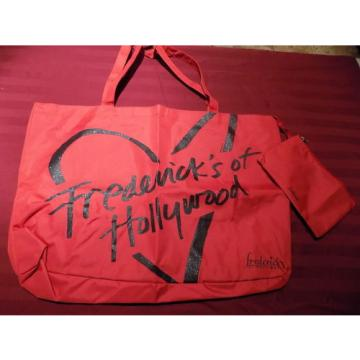 NWT Frederick's of Hollywood Signature Glitter Beach Tote Bag w/ sm. makeup bag