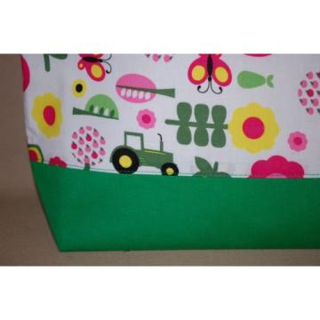Handmade John Deere Trimmed in Green Handbag Purse Tote Bag Beach Bag