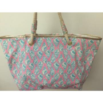 LILLY PULITZER A LITTLE TIPSY SHORELINE TOTE BAG PURSE BEACH HOLY GRAIL!