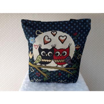 The Owls Canvas Bag, Shoulder Handbag, Travel Bag, Shopping Bag, Beach Bag