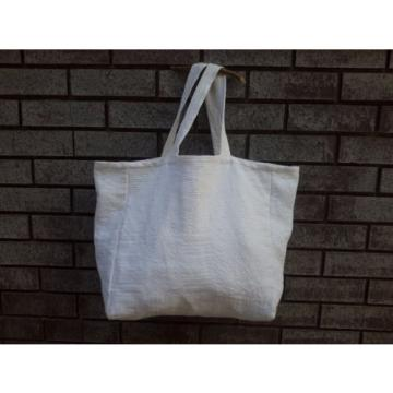 Handmade White Tote bag Beach bag Beautyful shoulder bag Special weekend bag