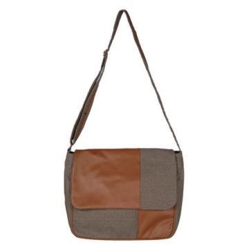 Cotton Jute Checkered Ladies Handbag Casual Shoulder Purse Beach Tote Favor Bag