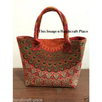 Indian Handmade Mandala Shopping Purse Cotton Beach Bag Large Tote Messenger
