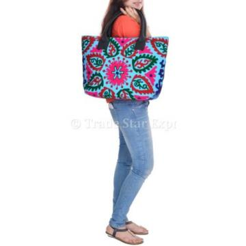 Suzani Embroidery Handbag Woman Tote Shoulder Bag Beach Bag Designer Boho Indian