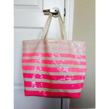 New Victoria's Secret Sequin Tote Beach Bag Free Ship!!!