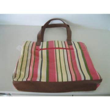 White Stag -COLROFUL STRIPED  CANVAS TOTE  Handbag Beach Bag