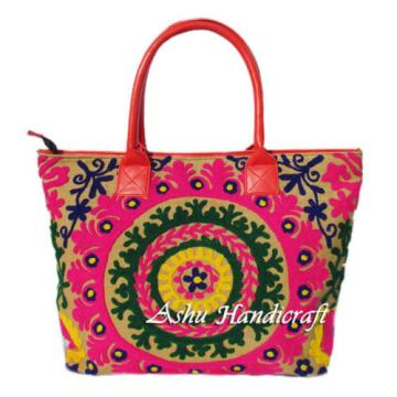 Indian Cotton Embroidery Suzani Handbag Woman Tote Shoulder Bag Beach Boho Bag C