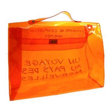 Auth HERMES Kelly Beach Hand Bag SOUVENIR DE L'EXPOSITION 1998 Vinyl V09430