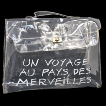 Authentic HERMES Kelly Beach Hand Bag SOUVENIR DE L'EXPOSITION Vinyl 1997 V01396