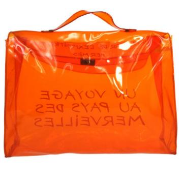 Authentic HERMES Kelly Beach Hand Bag SOUVENIR DE L'EXPOSITION 1998 Vinyl S03030