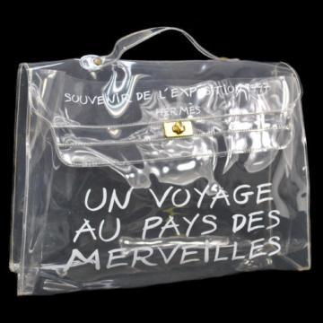 Authentic HERMES Kelly Beach Hand Bag SOUVENIR DE L'EXPOSITION Vinyl 1997 V07474