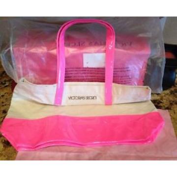 Victorias Secret Womens Pink Patent Tote BEACHBAG