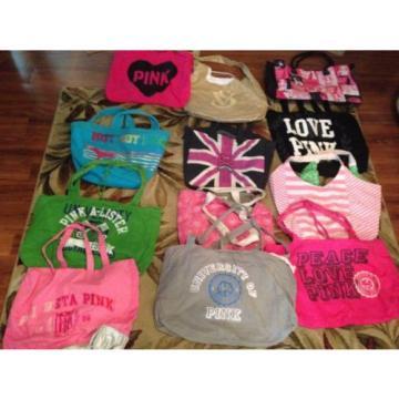 Choice 1 Victoria Secret X Large Pink Vinyl Cloth Tote Bags Weekender Beach Bag