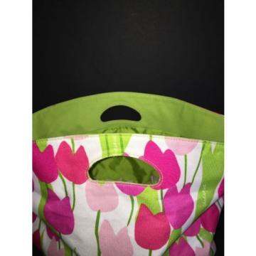 "CLINIQUE PINK TULIP LARGE TOTE BEACH BAG - 22"" x 6"" x 13"" NEW"