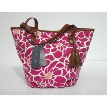 NWT TOMMY HILFIGER Pink/White Floral Tote/Shopper Beach Bag Purse 6923619-653
