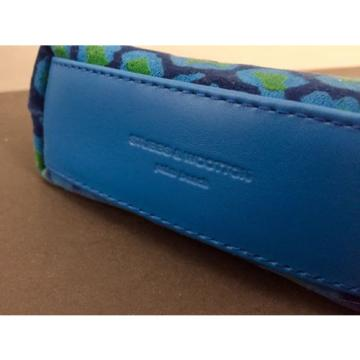 New Stubbs & Wootton Palm Beach Blue Spots POCKET Cosmetic Bag Clutch MSRP $75