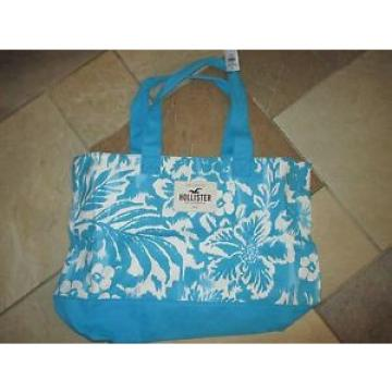 NWT-HOLLISTER, Blue Floral Beach Tote, Bag, Purse, School, Lake, Pool, Summer!!