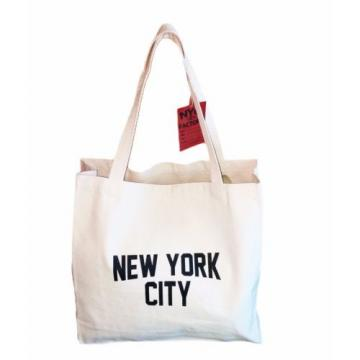 Gusseted New York City Tote Bag Lennon NYC Style Shopping Gym Beach